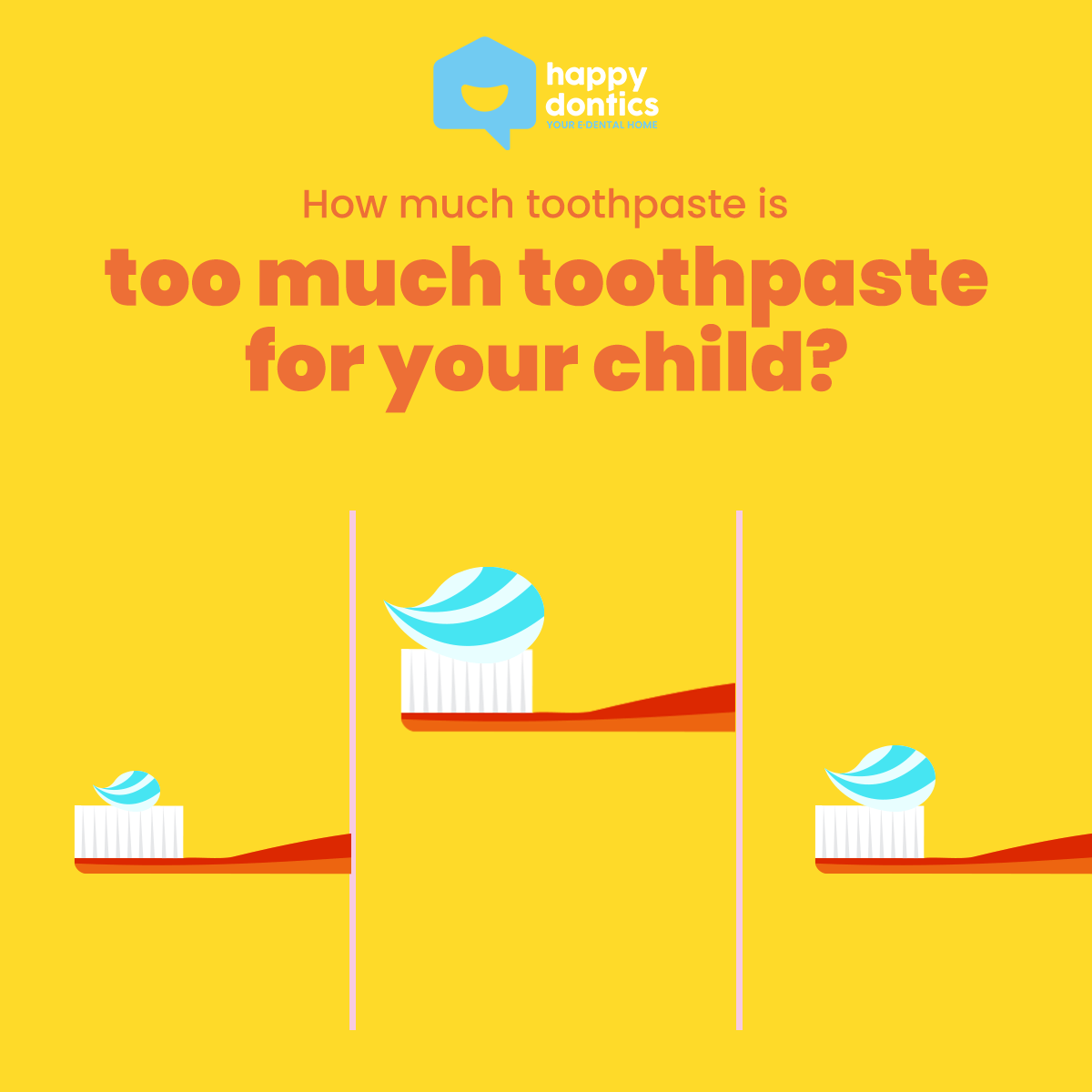 How much toothpaste is too much toothpaste for your child?